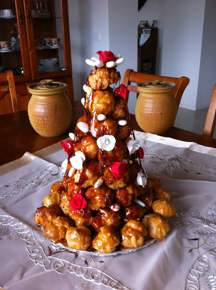 Superb Croquembouche at French Haven Patisserie - Bakery at Craigieburn Highlands